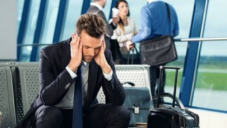 What can you do if you are jet-lagged during a business trip?